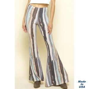 Soft and Stretchy Flare Striped Pants